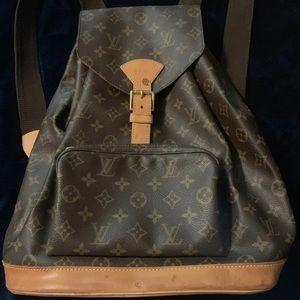 Authentic Louis Vuitton GM Montsouris Backpack
